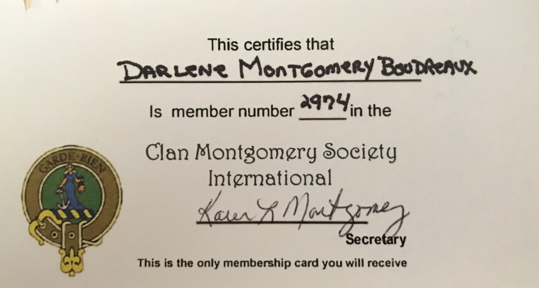 Montgomery Clan Card